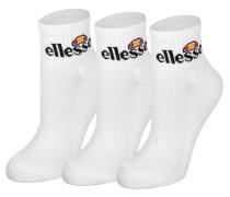 Arrom 3pk Socken weiß