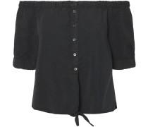 NMEndi Off Shoulder Tie Bluse Damen schwarz