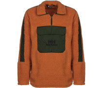 Yu 1/2 Zip Pile Herren Sweater orange grün