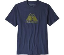 Live Simply Winding Herren T-Shirt blau