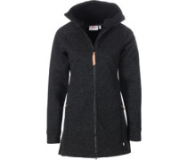 Övik Wool Wolljacke Damen schwarz