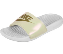 Benassi Jdi Print Badeschuhe Damen weiß beige gold