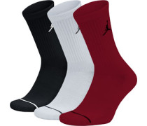 Jumpman Crew 3 Pack Socken schwarz weiß rot