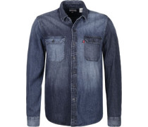 Jackon Worker Langarmhemd blau