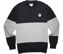 Core Colorblock Crew Sweater schwarz grau meliert