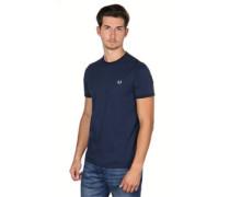 Ringer T-Shirt blau