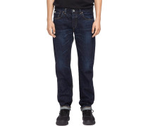 Classic Regular Tapered Herren Jeans dark used