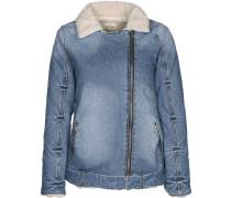 Denim Fur Damen Jeansjacke blau