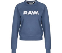 Xula straight art r sw W Sweater Damen blau