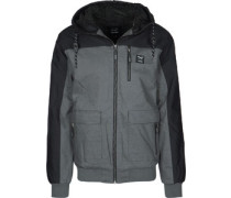 Dock36 Worker Winterjacke grau chwarz