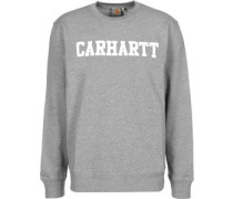 College Sweater grau meliert