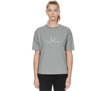 Embroidered W T-Shirt grau meliert