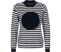 Striped Nikki Jumper W Sweater Damen bau weiß gestreift EU