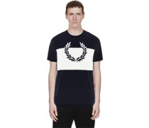 Laurel Wreath Print T-hirt blau