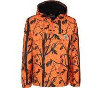 Nimbu Herren Winterjacke orange grau