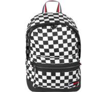 Checker Flag Rucksack schwarz weiß kariert