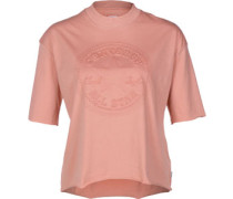 Embossed Cp Mock Neck W T-Shirt rot