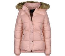 Padded Fur W Winterjacke pink