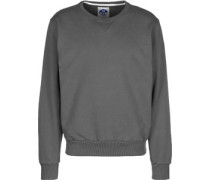 Crew Neck Patch weater grau