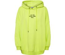 NMBelieve Oversize Damen Hoodie gelb neon