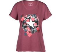 Floral W T-hirt rot