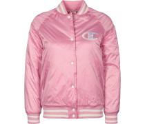 Bomber Collegejacke Damen pink