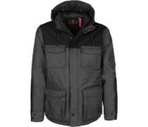 Helock Winter Winterjacke grau schwarz eliert