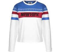 New York Racing W Longsleeve weiß blau