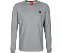 Modern Crew Sweater grau meliert
