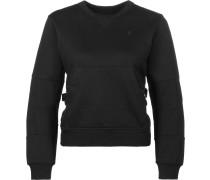 Rackam cropped r sw Damen Sweater schwarz