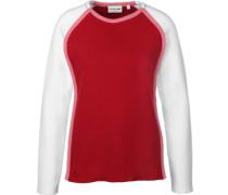 W Sweater Damen rot weiß EU
