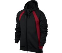 Fight Tech Hooded Zipper schwarz rot