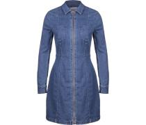 Lia Zip Damen Kleid blau