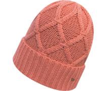 Cashmere Blend Cuff Damen Beanie pink