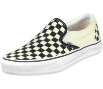 Classic Slip on Schuhe schwarz weiß kariert