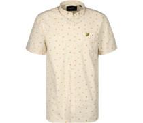 Beach Ball Print Kurzarmhemd beige