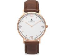 Campus Uhren Uhr brown leather brown leather