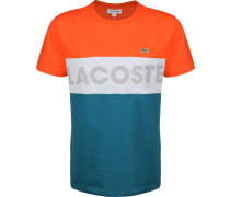 port Lettering Colourblock Herren T-hirt blau orange