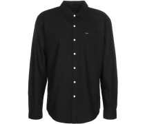 Charter Oxford Herren angarmhemd schwarz