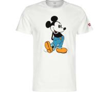 Graphic Set-In Neck 2 Mickey Mouse T-Shirt Herren weiß evi's ® Graphic Set-In Neck 2 Mickey Mouse T-Shirt Herren weiß L