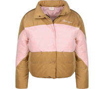 Down Damen Winterjacke braun pink