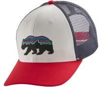 Fitz Roy Bear Trucker Cap weiß rot