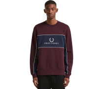 Panel Piped Sweater Herren weinrot