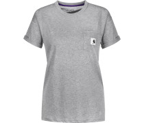 Carrie Pocket T-Shirt Damen grau meliert