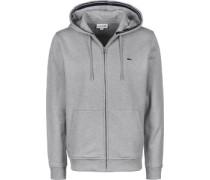 Hooded Zipper grau meliert