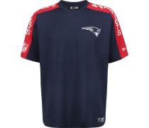 NFL Overized houlder Print New England Patriot Herren T-hirt blau
