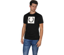 Printed aure Wreath T-Shirt schwarz