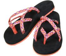 Olowahu Damen Zehentrenner schwarz orange pink