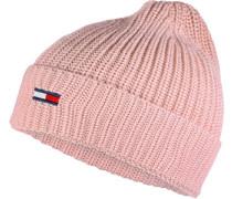 Basic Rib W Beanie pink