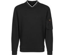 Nylon Panel Herren Sweater schwarz